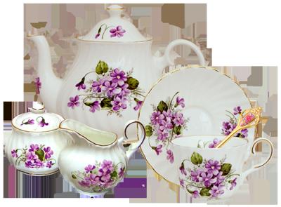 Violet Tea for One
