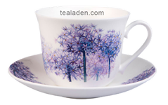 Allium Flower Breakfast Cup and Saucer