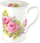 China Pink Roses Mugs Set of Three