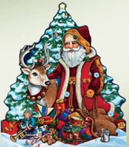 Woodland Santa Advent Calendar