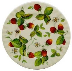 Two Alpine Strawberry Dessert Plates