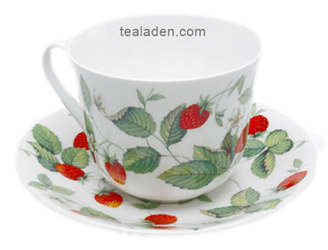 Alpine Strawberry Breakfast Cup and Saucer