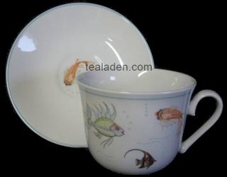 Nina Campbell Aquarium Breakfast Cup and Saucer