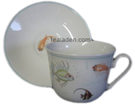 Nina Campbell Aquarium Breakfast Cup and Saucer