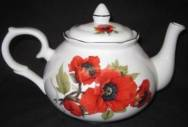 Autumn Poppy Six Cup Teapot