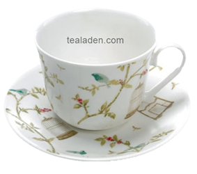 Nina Campbell Birdcage Breakfast Cup and Saucer