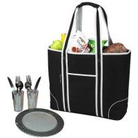 Black Insulated Cooler Tote for Two