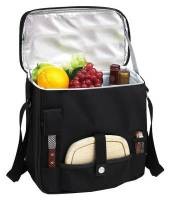 Black Wine and Cheese Cooler Tote