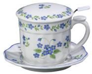 Blue Forget Me Not Infuser Mug