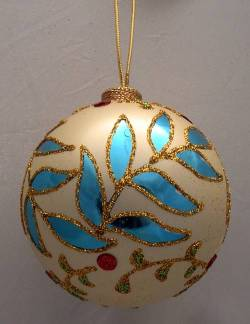 Blue and Green Leaves Ornament