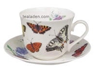 Butterfly Garden Breakfast Cup and Saucer