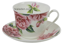 Camellia Flower Breakfast Cup and Saucer
