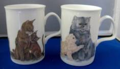 Four Cat Lover Mugs