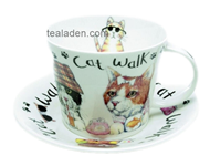 Cat Walk Breakfast Cup and Saucer