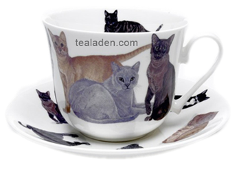 Cats Galore Breakfast Cup and Saucer