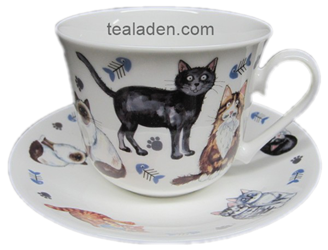 Cats Whiskers Breakfast Cup and Saucer
