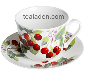 Cherries Breakfast Cup and Saucer