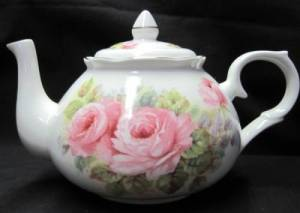China Pink Rose Six Cup Teapot