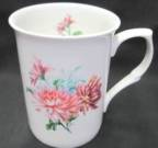 Four Chrysanthemum Mugs