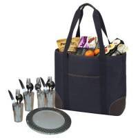 Classic Navy Insulated Cooler Tote for Four