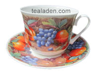 Classic Fruit Breakfast Cup and Saucer