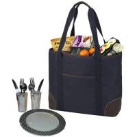 Classic Navy Insulated Cooler Tote for Two