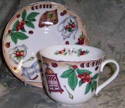 Coffee Time Breakfast Cup and Saucer