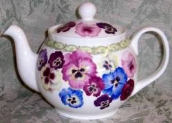 Colorful Pansy Six Cup Teapot