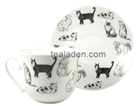 Countless Cats Breakfast Cup and Saucer