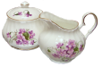 Violet Cream and Sugar Set