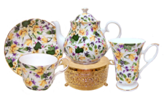 Daffodil Chintz Ten Piece Tea Set