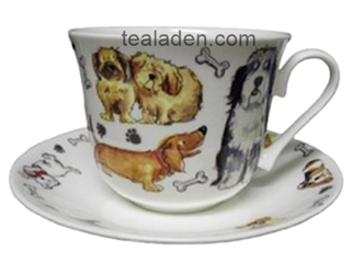 Dog Tales Breakfast Cup and Saucer