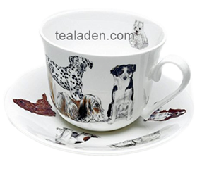 Dogs Galore Breakfast Cup and Saucer