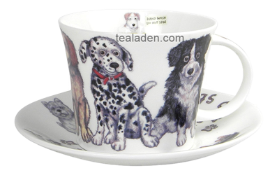 Dogs at Home Breakfast Cup and Saucer