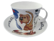 Dogz Breakfast Cup and Saucer