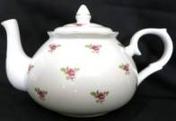 Dot Rose Teapot Six Cup