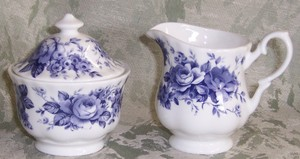 English Chintz Cream and Sugar