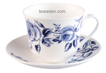 English Blue Breakfast Cup and Saucer