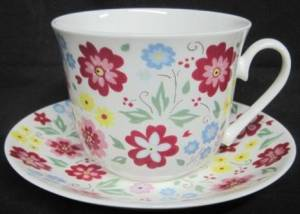 English Bouquet breakfast cup and saucer