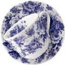Blue Chintz Breakfast Cup and Saucer