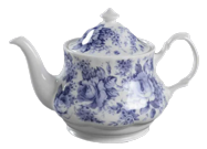 Blue Chintz Six Cup Teapot