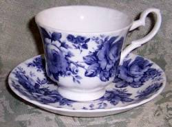 Two English Chintz Cup Sets