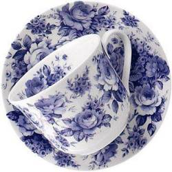 English Chintz Breakfast Cup and Saucer
