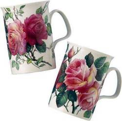 Four English Rose Mugs