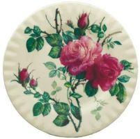 Two English Rose Dessert Plates