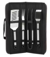 BBQ Executive Black Canvas Grill Set