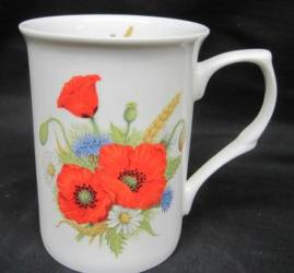 Four Field Poppy Mugs