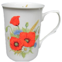 Poppy Fields Mugs Set of Three
