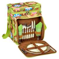 Floral Picnic Cooler for Two