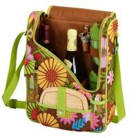 Floral Wine and Cheese Cooler Tote